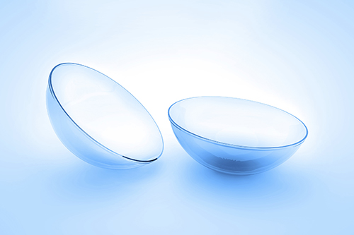 contact lens close up macro 3d render